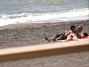 Oral job on the beach