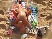 Busty russian wife got taken by her horny hubby on the beach