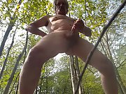 Milking my man rod while enjoying the outdoors