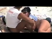Bum nude wife gives her strong hubby a adorable blowjob at the local beach