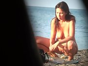 Beautiful woman nudist witnessed and filmed on the romanian beach